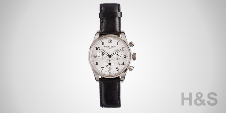 Mougin & Piquard Silver Chronograph Watch