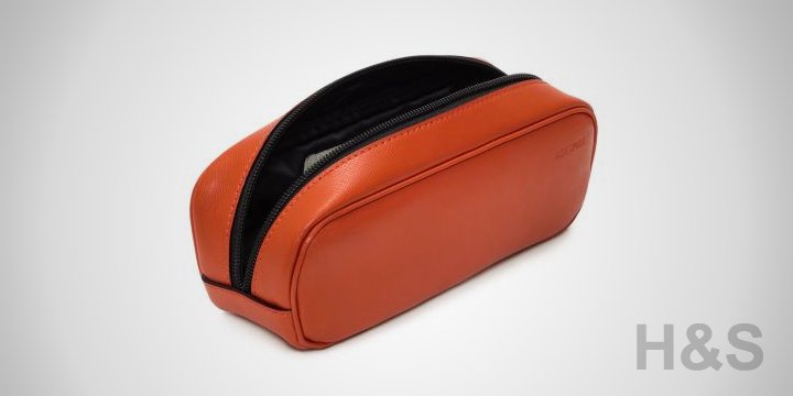 Jack Spade Wesson Leather Basic Dopp Kit