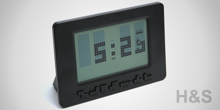 Tetris Animated Alarm Clock