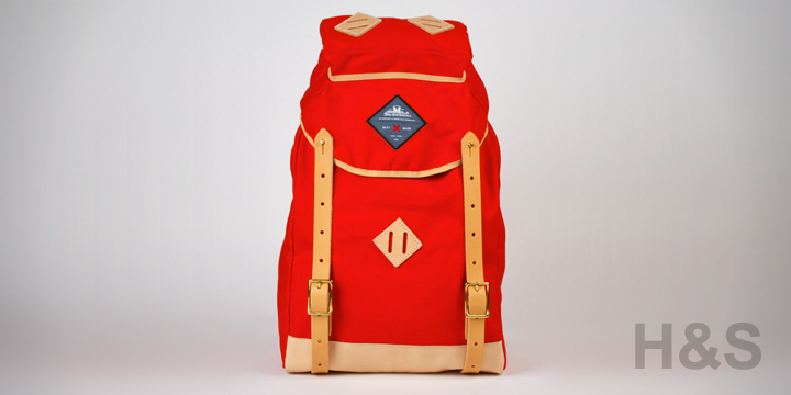 Best Made Company Blaze Red-Orange Alpine Rucksack