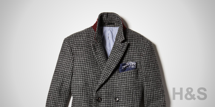 Michael Bastian Double-Breasted Houndstooth Topcoat