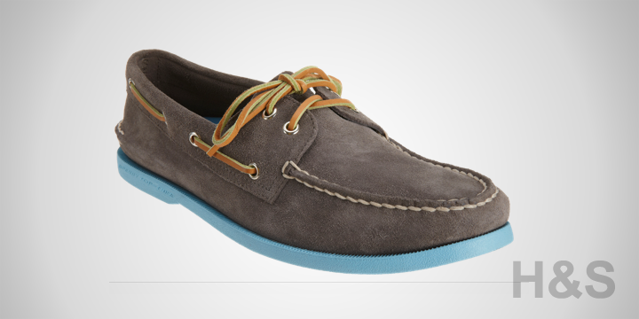 Sperry Top-Sider Light-Blue Sole Boat Shoe