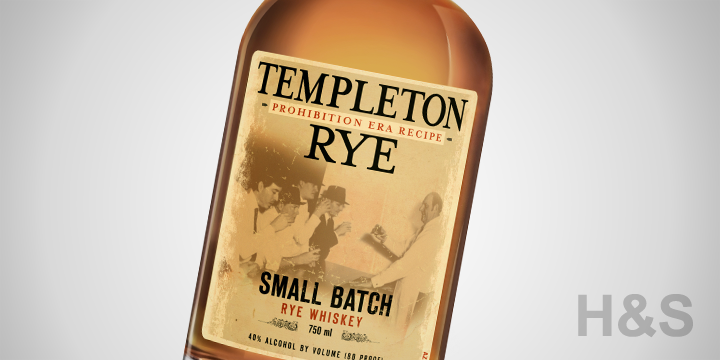 Templeton Small Batch Rye Whiskey