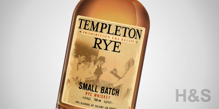 Templeton Small Batch Rye Whiskey