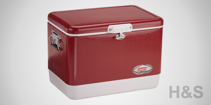 Coleman Red Steel Belted Cooler