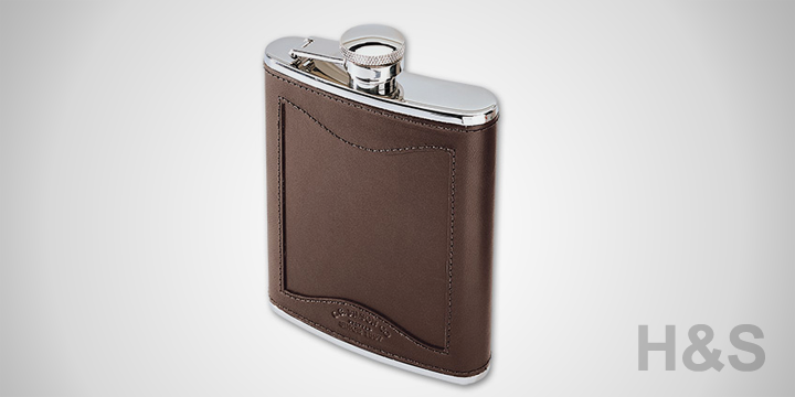 Filson Leather & Stainless Steel Flask