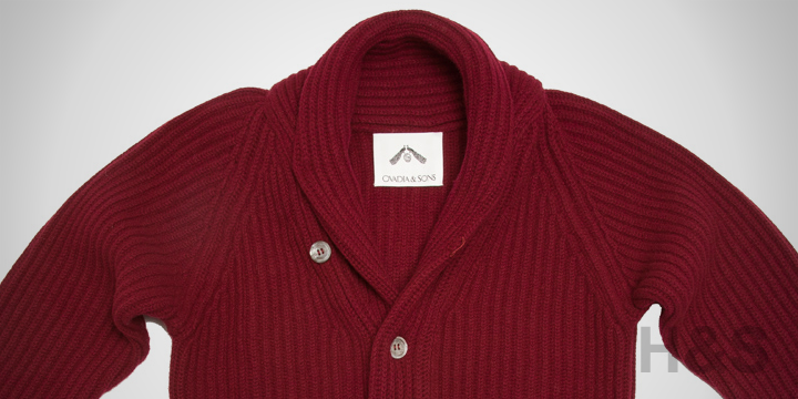 Ovadia & Sons Wine Shawl Sweater Jacket