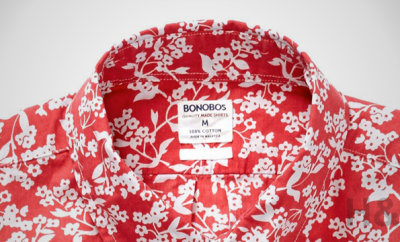 Bonobos Washed Poplin Slim Red Floral Shirt
