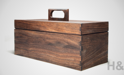 Kaufmann Mercantile Reclaimed Tropical Walnut Tool Box