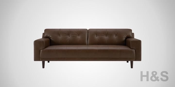 EQ3 Byrd Leather Sofa
