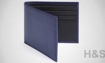 Turnbull & Asser Purple Leather Billfold Wallet